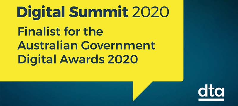 We're a finalist at the 2020 Digital Summit Awards