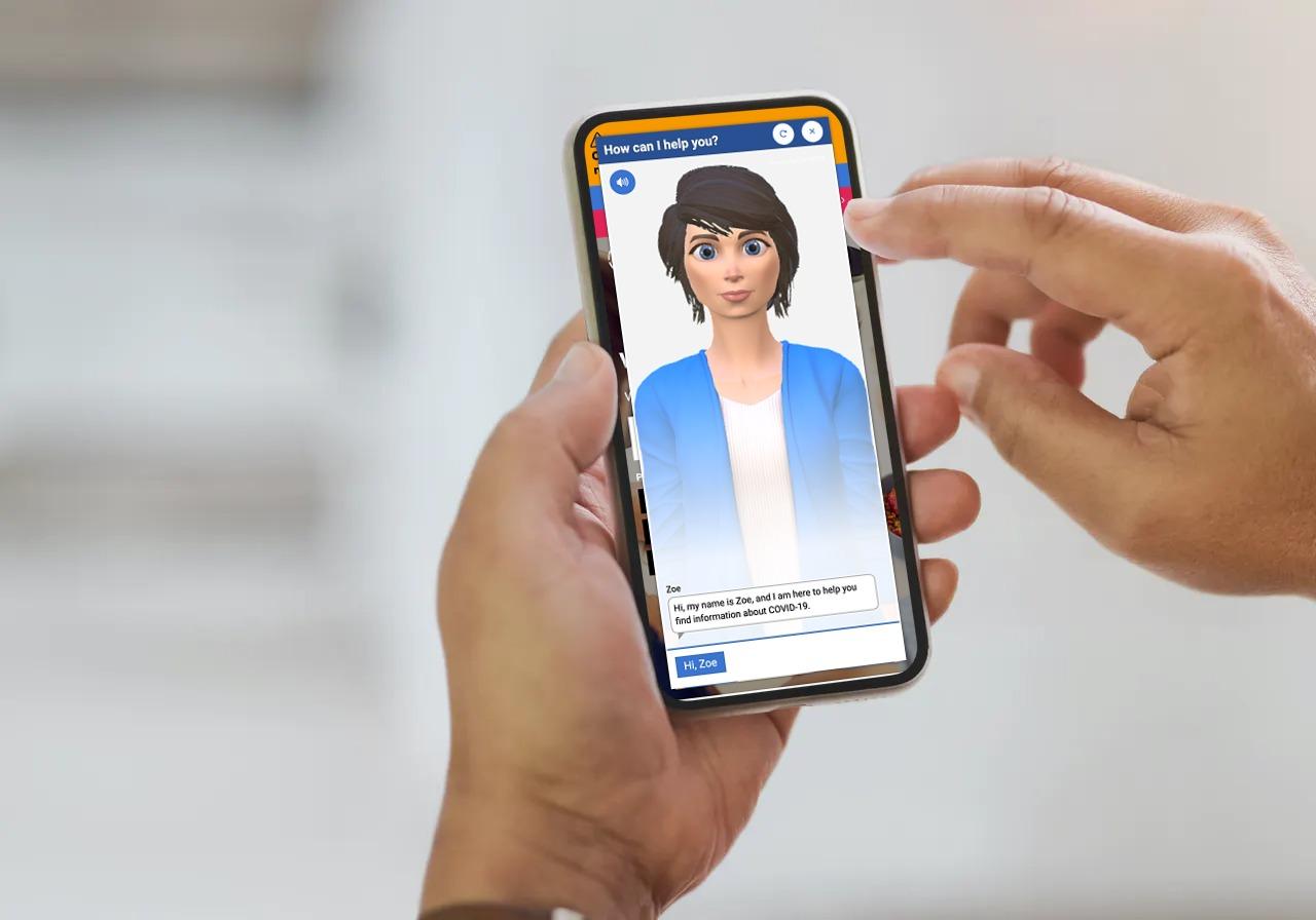 SA Health Chatbot Zoe on mobile