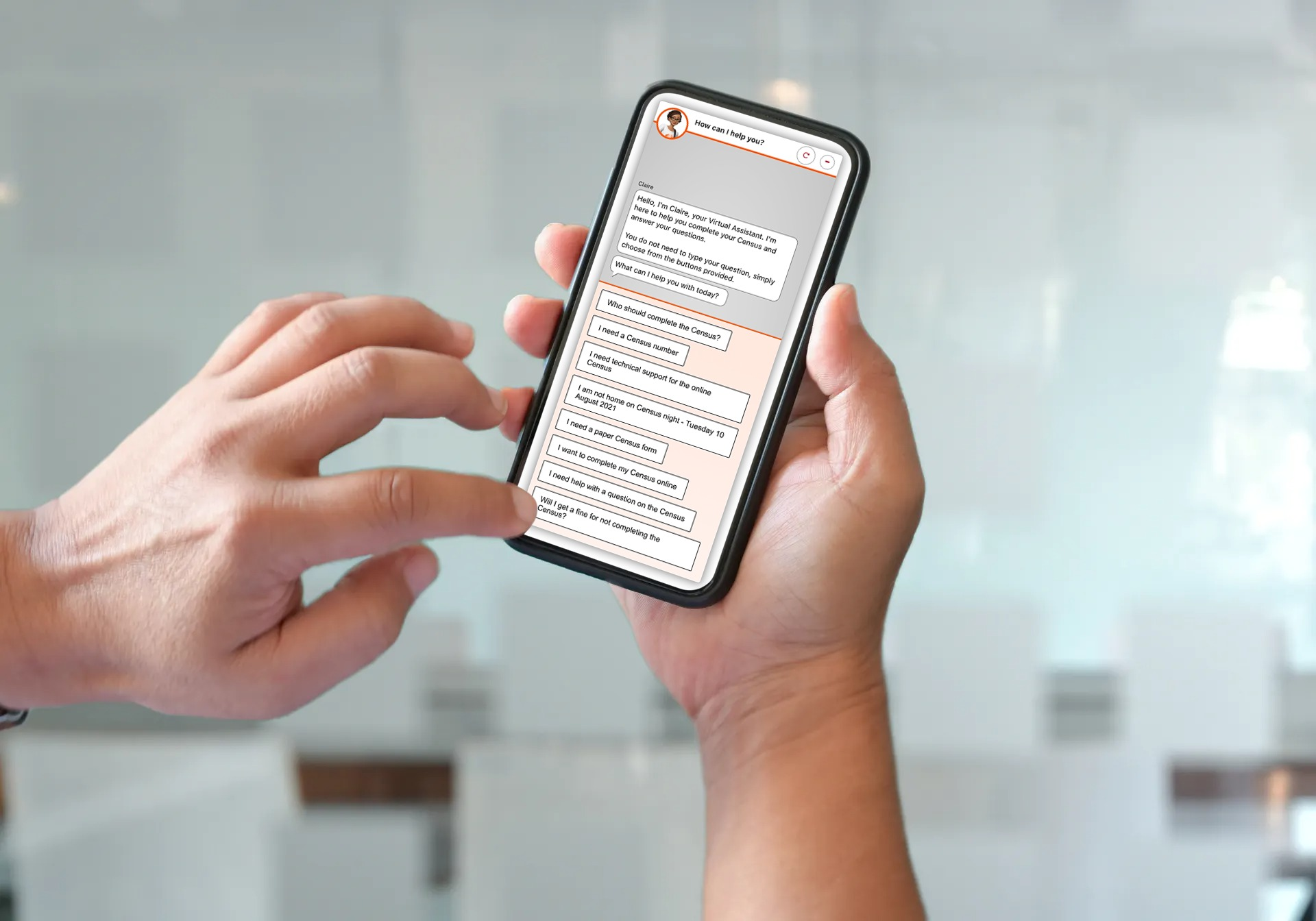 Clevertar Census ABS Chatbot on a Mobile