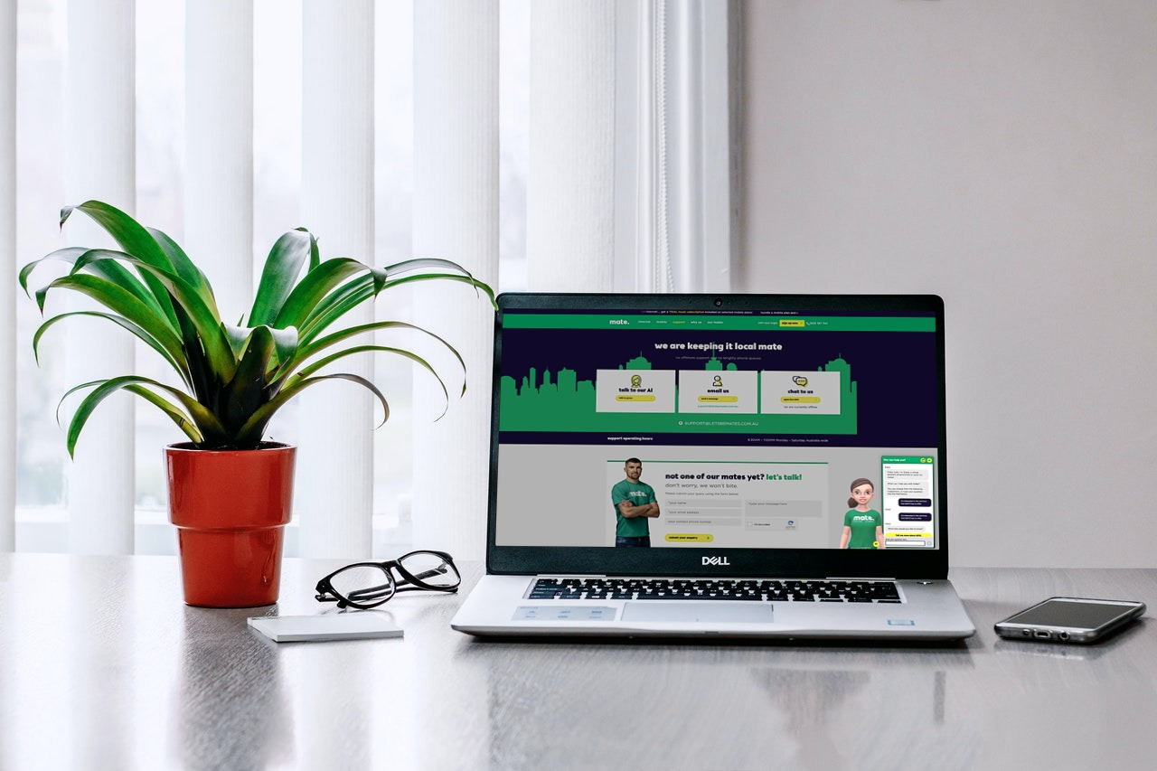 MATE chatbot on Laptop