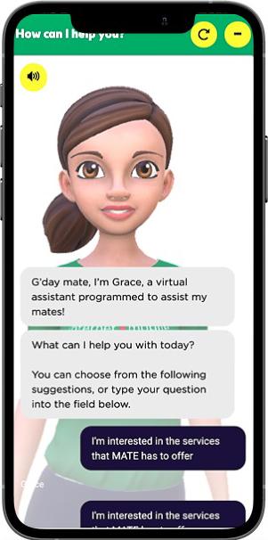MATE Chatbot on Mobile